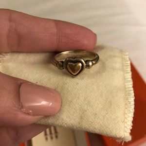 James Avery retired gold heart ring